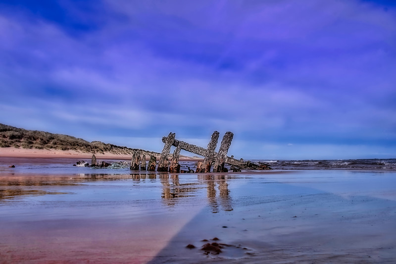 Shipwreck Balmedie Beach