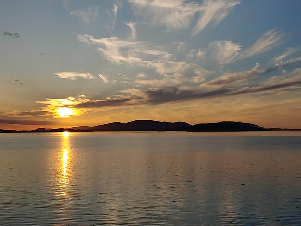 Sunset over Padilla Bay
