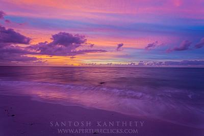 Wild sunrise over atlantic