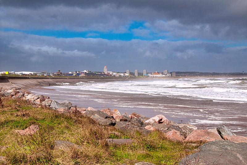 Aberdeen Beach a bit choppy today 1.jpg