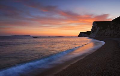 Durdle Door sunset, Dorset