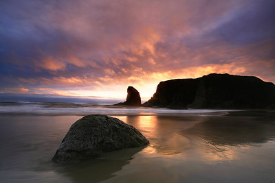 Sunset@ Bandon, Oregon  Shot with digital