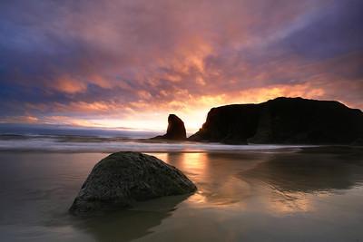 Sunset@ Bandon, Oregon  Shot with digital