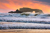 Sunset waves 4- Sonoma coast