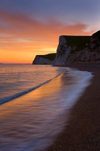 Durdle Door at sunset, Dorset