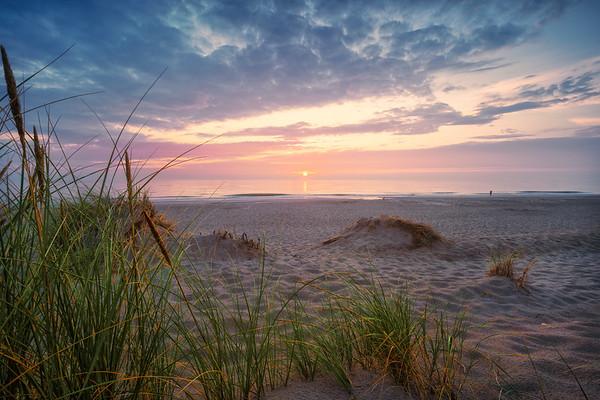 Sunset at the Dutch coast