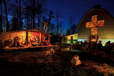 Live Nativity at Billy Graham Library