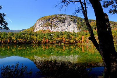 Reflection of Cathedral Ledge on Echo Lake - NH