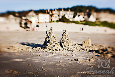 A sandcastle found at Cannon Beach in Oregon Coast. Shot with the Lensbaby composer.  © Copyright Hannah Pastrana Prieto