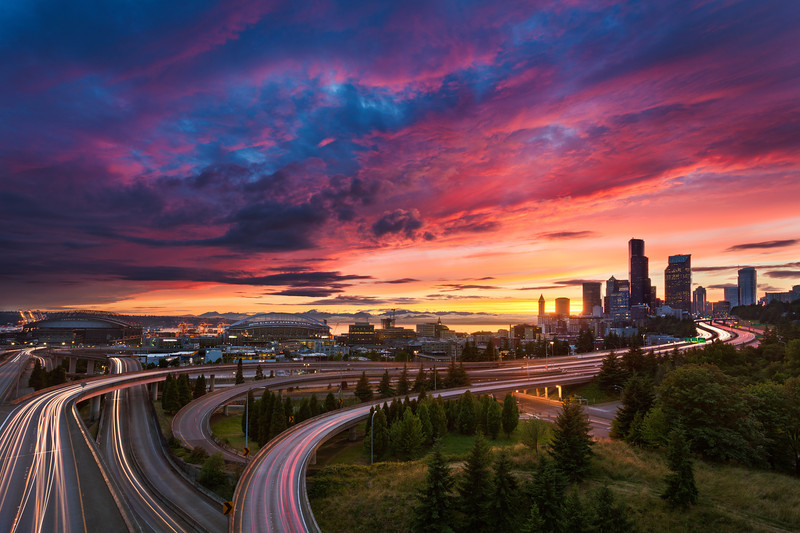 Seattle Summer Sunset