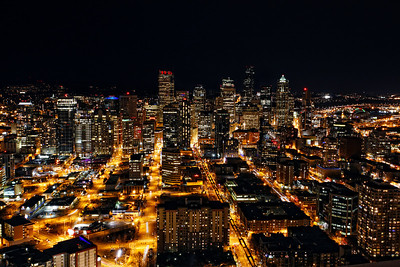 View of Downtown Seattle from the Space Needle.