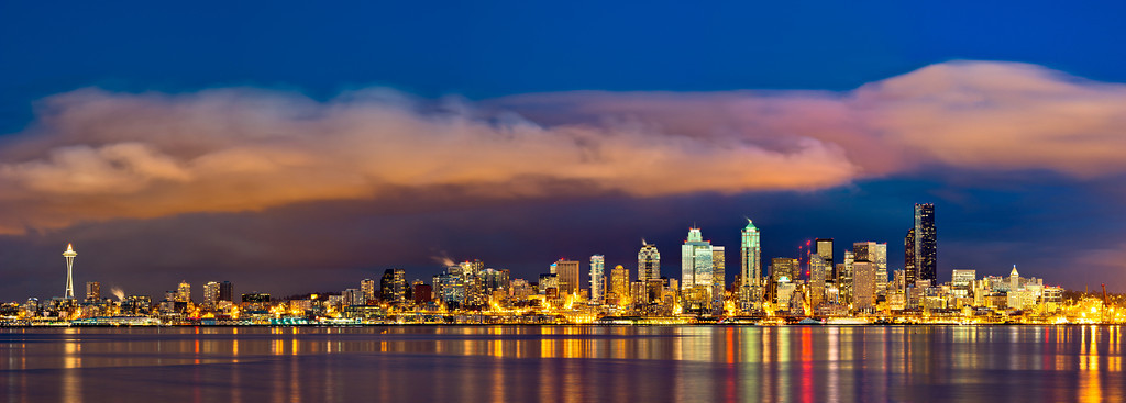 Seattle Blanketed by Clouds