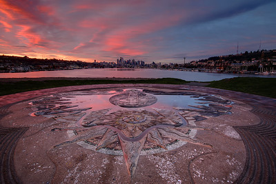 Sunrise at Gasworks Park in Seattle.