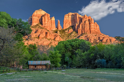 Cathedral Rock from Crescent Moon Ranch