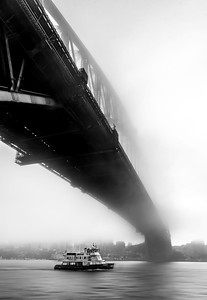 Sydney Harbour Fog By Stephen Matanovic print