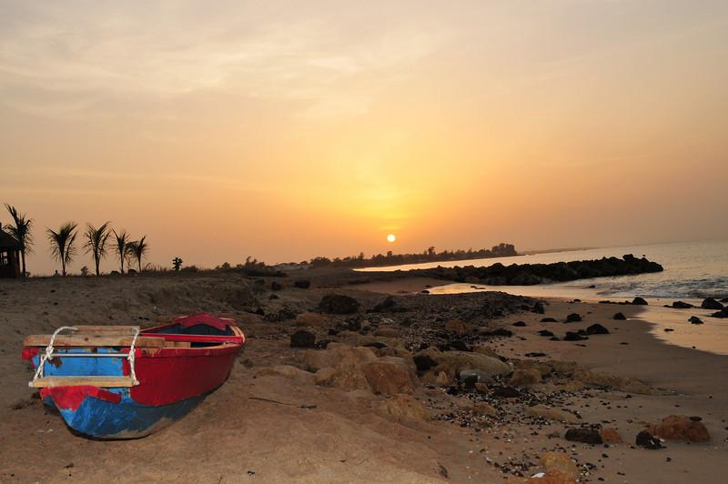Sunrise over Senegal, West Aftrica Coast