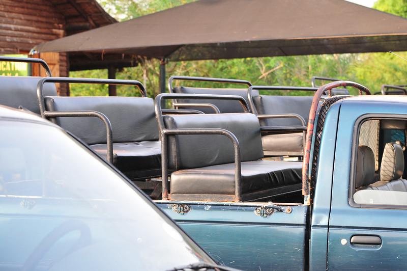 Safari truck at Bandia Animal Reserve