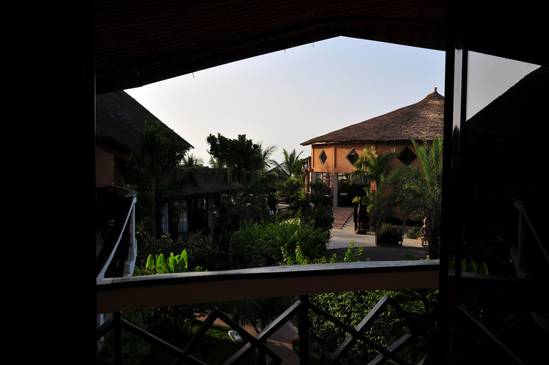 Restaurant at Lamantin Beach Hotel in Saly from hotel room