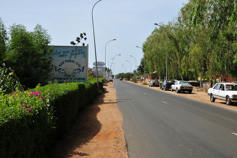 A road shot from outside hotel complex