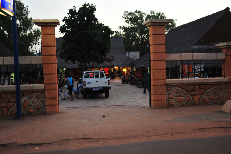 A shopping area in downtown Saly, Senegal