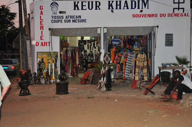 Clothes store, downtown Saly, Senegal
