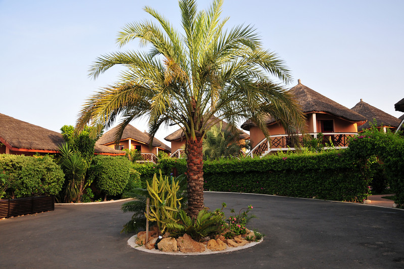 Outside main office of Lamantin Beach Hotel in Saly