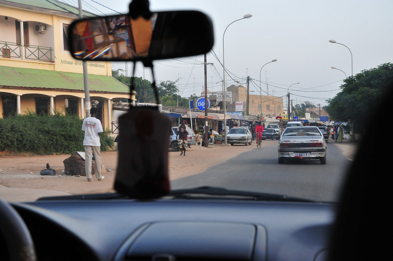 Entering downtown Saly