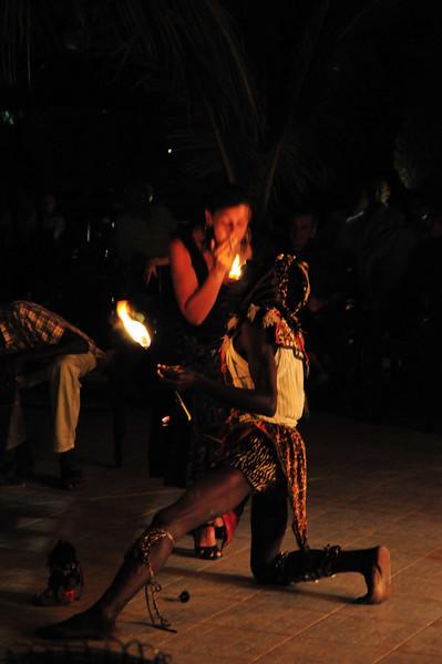 Fire eater/dancer