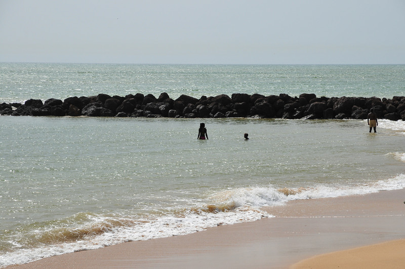 A family at the beach - Senegal, Africa