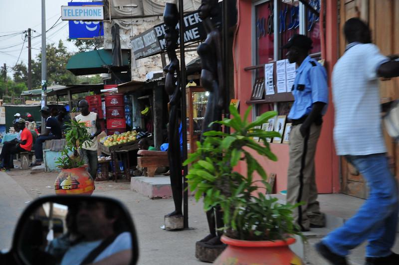 Entering downtown Saly, Senegal