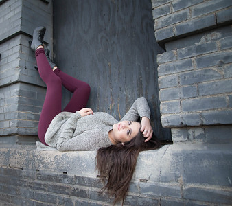 Senior Session West Bottoms Kansas City MO