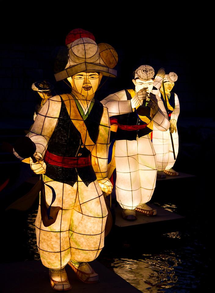 Korean Male Lanterns in the Cheonggye Stream