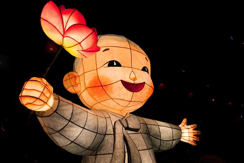 A Lantern of Baby Buddha