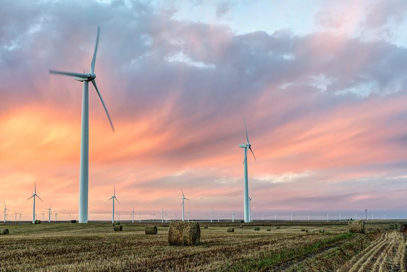 Colorado Turbines at Sunset (Landscape)