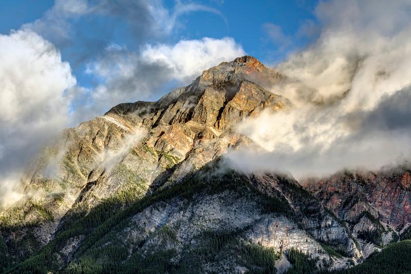 Pyramid Mountain at Sunrise