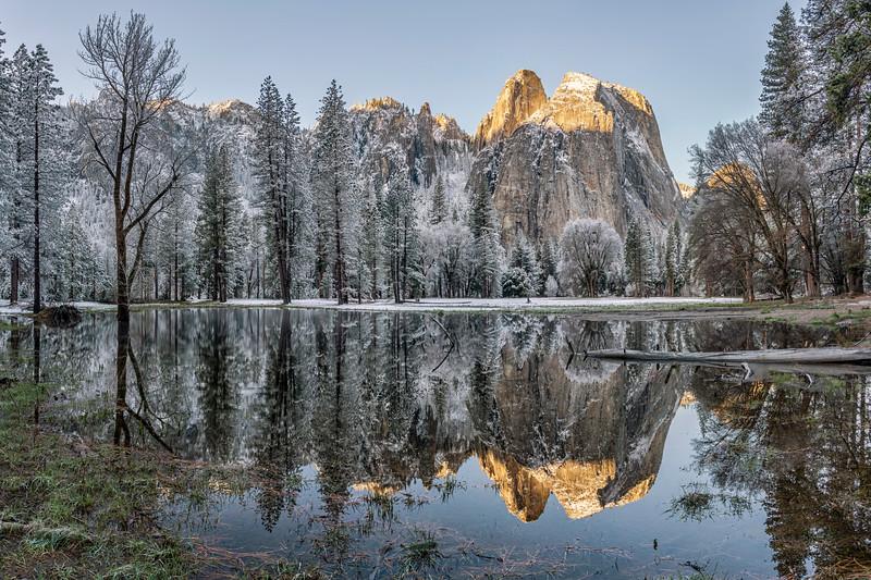 First Light in Yosemite