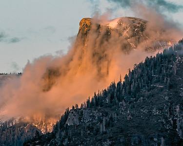 Half Dome Ablaze