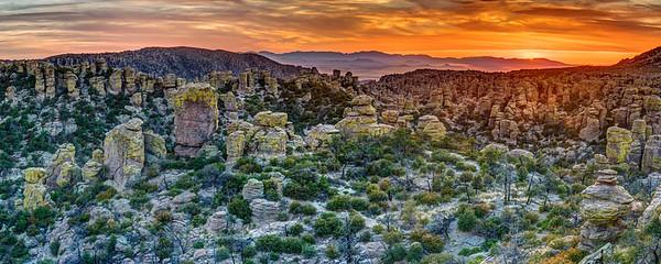 Chiricahua Sunset Panorama