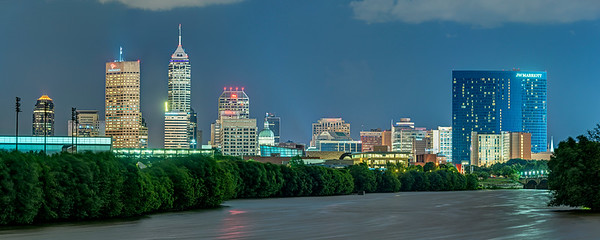 Indianapolis over the White River