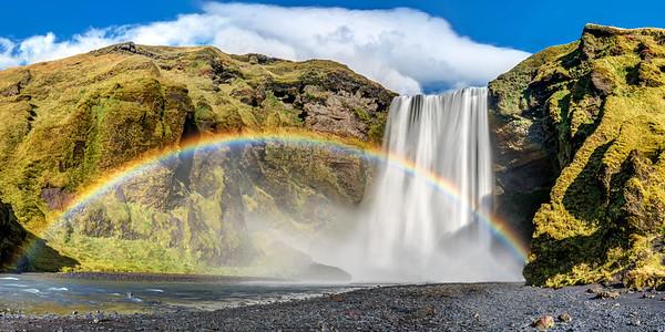Rainbow at Skogafoss