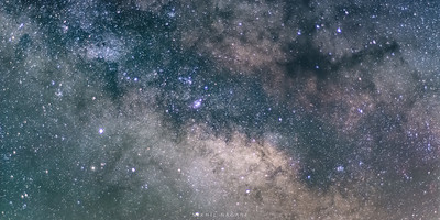 Milky way is rising
