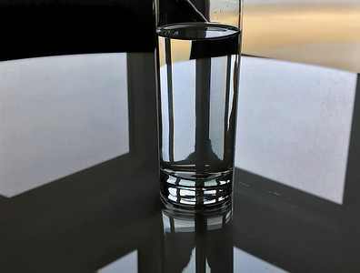 Waterglass on Glass Table, Newport, 2019