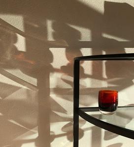 Red Glass & Shadows, Portland, 2019