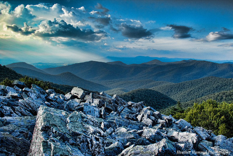 Blackrock Summit in the Shenandoah National Park