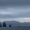 The Drangs (stacks) on a murky morning.