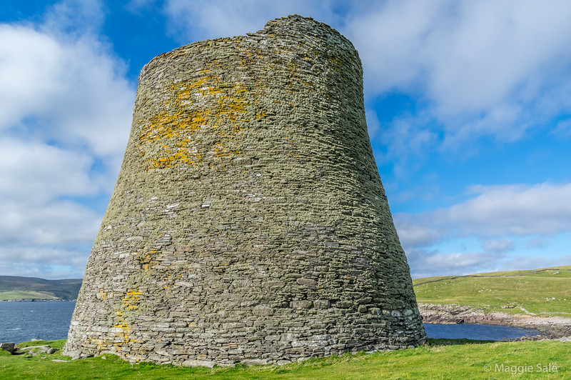 Scotland's largest and most complete Broch on uninhabited Mousa. Communal living 2,300 years ago!