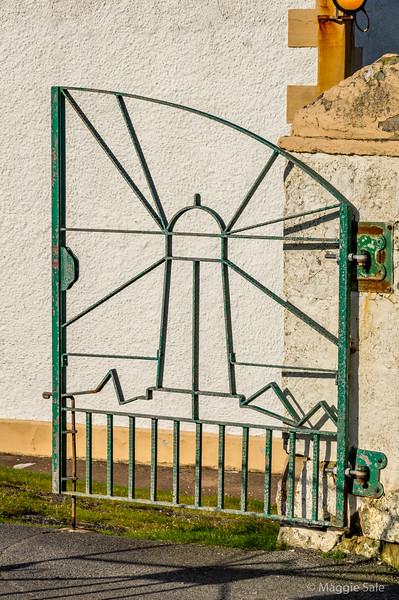 Bressay Lighthouse gate, Island of Bressay
