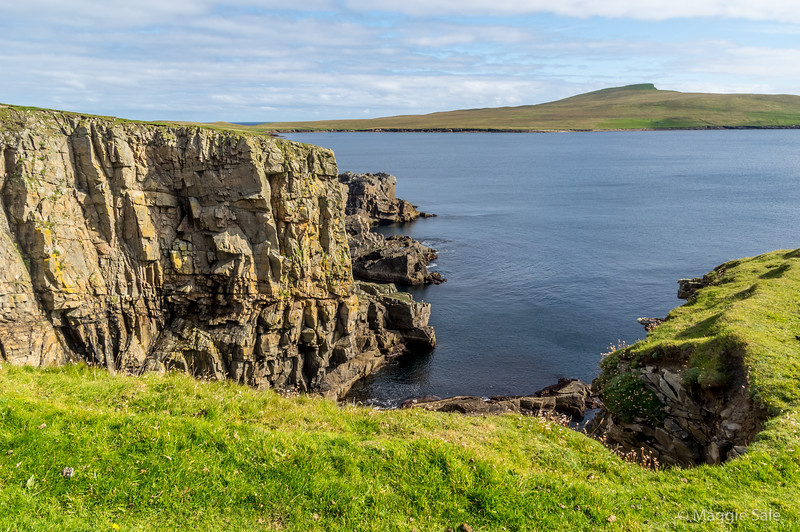 Bressay looking toward Island of Noss, a bird reserve and no ferry from Sept. until the spring