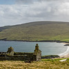 Abandoned crofts on eastern coast of Unst.