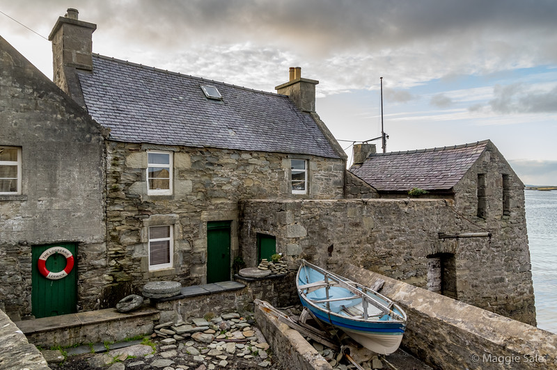"""""""Jimmy Perez'"""" house in Lerwick, from the Shetland drama series"""